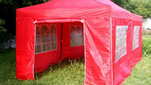 Красный шатер палатка на прокат