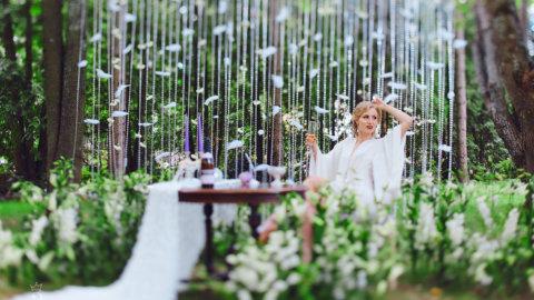 Фотографии свадьбы на природе