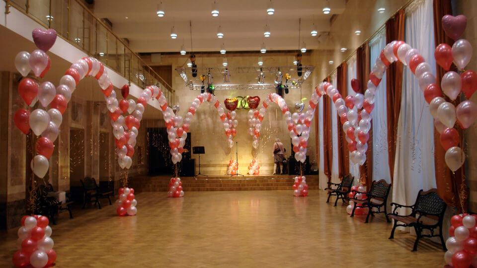 Свадьба оформленная шарами